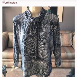 NEW LISTING SALE! Worthington twist neck blouse!
